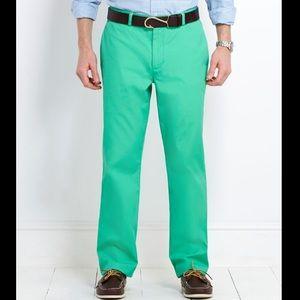 Vineyard Vines Green Poplin Club Pants 32x30 Chino